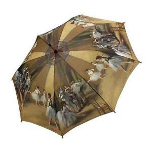 Clifton Galleria Degas Ballet Lesson Auto Open Walking Umbrella