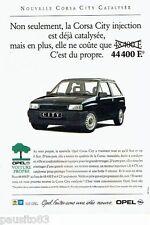 PUBLICITE ADVERTISING 116  1992   Opel  la Corsa  City injection catalysée
