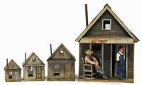 BANTA 2078 MINER'S CABIN HO HOn3 Model Railroad Structure Wood Kit FREE SHIP