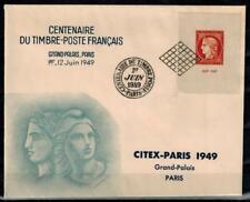 """(a64) timbre France n° 841 oblitéré année 1949 """"sur enveloppe de l'exposition"""""""