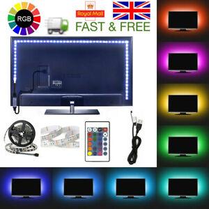 5V USB MOOD LIGHT RGB MULTI COLOR LED STRIP LIGHT TV BACKLIGHT REMOTE CONTROL