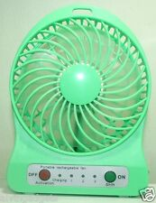 Portable Mini Rechargeable LED Light Fan With Charger Battery & USB Cable(Green)