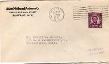 "Sc# 600 Buffalo NY cc ""Adam, Meldrum & Anderson Co"" Sep 30 1932 violet"