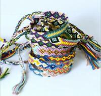10pcs Friendship Bracelet Handmade Woven Rope String Hippy Boho Mixing Color