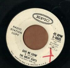 THE GREAT SCOTS - Don't Want Your Love + Give Me Lovin' - EPIC garage rock 45