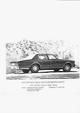 USA 1977 FOR 1978 CHEVROLET CAPRICE CLASSIC SALOON UK PRESS PHOTO 'BROCHURE'