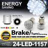 6 Pcs 24 LED White Car Bulb 1156-PY BAU15S Light 12V Brake/Turn/Tail/Revese Lamp