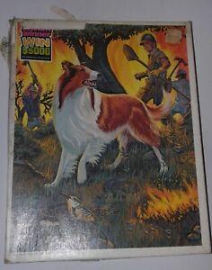 """Vintage Lassie Fire Rescue Jigsaw Puzzle 1981 Whitman 14"""" X 18"""" , 100 Pieces"""