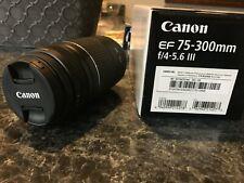 New ListingCanon Ef 75-300mm f/4-5.6 Iii Telephoto Zoom Lens for Canon Slr Cameras
