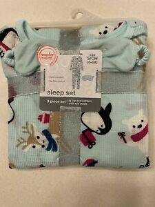 Thermal Underwear Set Girls Size Small Mask Included