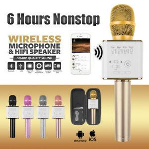 Q9 Wireless Bluetooth Karaoke Microphone Speaker Handheld Mic USB Player AU SHIP