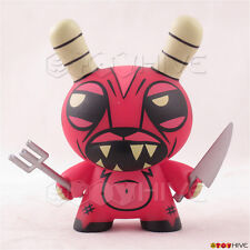 Kidrobot Dunny 2009 Endangered series vinyl figure red Demon by Joe Ledbetter