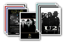 U2  - 10 promotional posters - collectable postcard set # 3