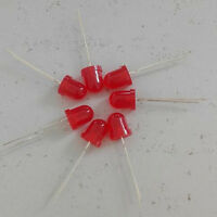 10pcs, NEW 5mm Red Super Bright Light Bulb LED 3V 6V 9V -12V With FREE RESISTOR