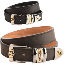 New Women/'s Ohh Ashley Western Buckle Leather Belt Crystals//Studs Tan