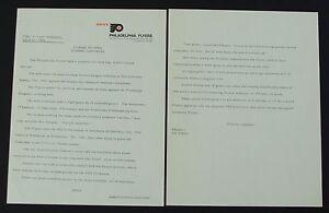 6 - Philadelphia Flyers Late 1960s Early 1970s Vintage Press Release Letter Lot