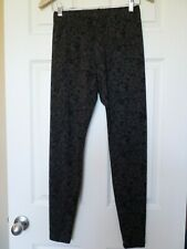 Cabi black/gray leopard print Safari leggings Sz S #3212