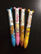 NEW 4Pcs×2 colour San-x Rilakkuma 2 in 1 Ball pen Kawaii Stationery School Free