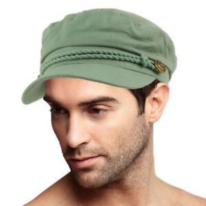 Men's Summer Cotton Greek Fisherman Sailor Fiddler Driver Hat Flat Cap