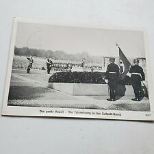 Military Germany Nazi Era Postcard German Soldiers with Nazi Flag 21.9.1938