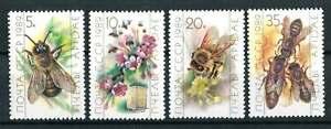 thème thématique animaux insectes abeilles série de 4 timbres luxe** russie