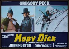 fotobusta MOBY DICK HERMAN MELVILLE GREGORY PECK ORSON WELLES JOHN HUSTON