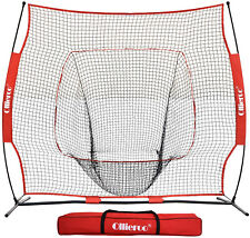 7x7 Baseball Softball Batting Net Hitting Practice Training Bow Frame Red NEW