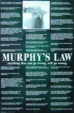 MURPHY'S LAW - HUMOR - NEW 24X36 FUNNY POSTER