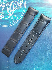 OMEGA GENUINE 20mm BLUE 98000467 ALLIGATOR SEAMASTER AQUA TERRA DEPLOYMENT STRAP