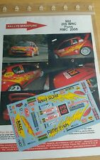 DECALS 1/24 REF 902 PEUGEOT 206 WRC PONS RALLYE MONTE CARLO 2005 RALLY