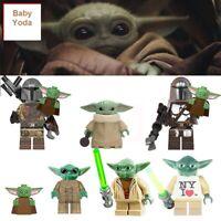 STAR WARS The Mandalorian BABY YODA lego CUSTOM Minifigure Building Blocks