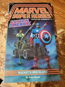 TSR Marvel Super Heroes Adventure Gamebook Captain America Rocket's Red Glare