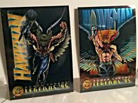 1995 SkyBox DC Legends Power Chrome HAWKMAN #5 & #50 combo FREE SHIPPING