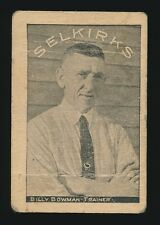1924-25 Crescent Selkirks Hockey #4 BILLY BOWMAN *Very Tough Type Card*
