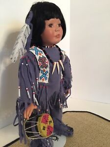Hamilton Collection TASHEE Native American Blackfoot INDIAN Porcelain DOLL Cert