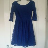 BNWT Primark/Atmosphere Lace Blue Skater Dress - size 8/6