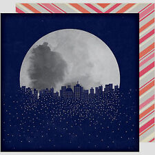 StarShine MAGELLAN 12x12 Double-Sided Scrapbooking (2)PCS Paper MOON SKYLINE