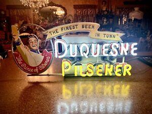 Vintage DUQUESNE PILSENER Neon Beer sign Lackner?