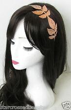 Bronze Grecian Leaf Headband Vintage Roman 1920s Leaves Boho Olive Metal 30s O60