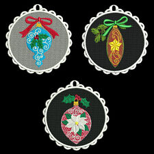 FSL CHRISTMAS ORNAMENTS - 30 MACHINE EMBROIDERY DESIGNS (AZEB)