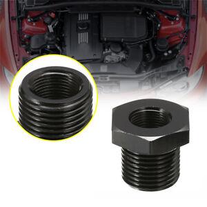1pc 1/2-28 to 3/4-16 Black Adapter Oil Filter Aluminium Alloy Car Accessories