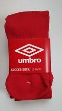 Umbro Soccer Socks (2-Pack) Youth Medium (New) Red