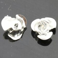 500pcs Aluminum Silver Flower Shaped Spacer Loose Beads 8mm Fit Jewelry DIY LC