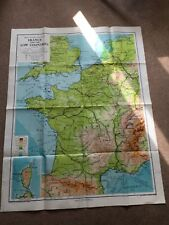 "FRANCE AND THE LOW COUNTRIES MAP 1974 GEORGE PHILIP & SON LTD LARGE 43.5"" x 36"""