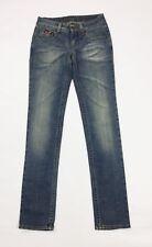 Gas jeans usato skin 1 donna slim skinny stretch w25 tg 39 aderenti denim T3748