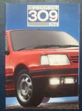 PEUGEOT 309 GTI Car Sales Brochure May 1987
