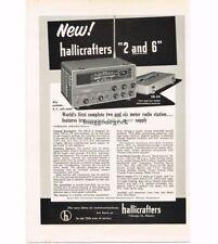 1958 Hallicrafters SR-34 2&6 Meter Transceiver Short Wave Ham Radio Vtg Print Ad