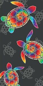 New Tie Dye Sea Turtle Towel Cotton Bath Beach Pool GIFT 30x60 Shell Honu Ocean