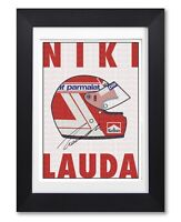 NIKI LAUDA SIGNED HELMET POSTER PRINT PHOTO AUTOGRAPH GIFT F1 FORMULA ONE LEGEND