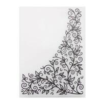 Broadroot Floral Plastic Embossing Folder für DIY Scrapbooking Fotoalbum Pa /Neu